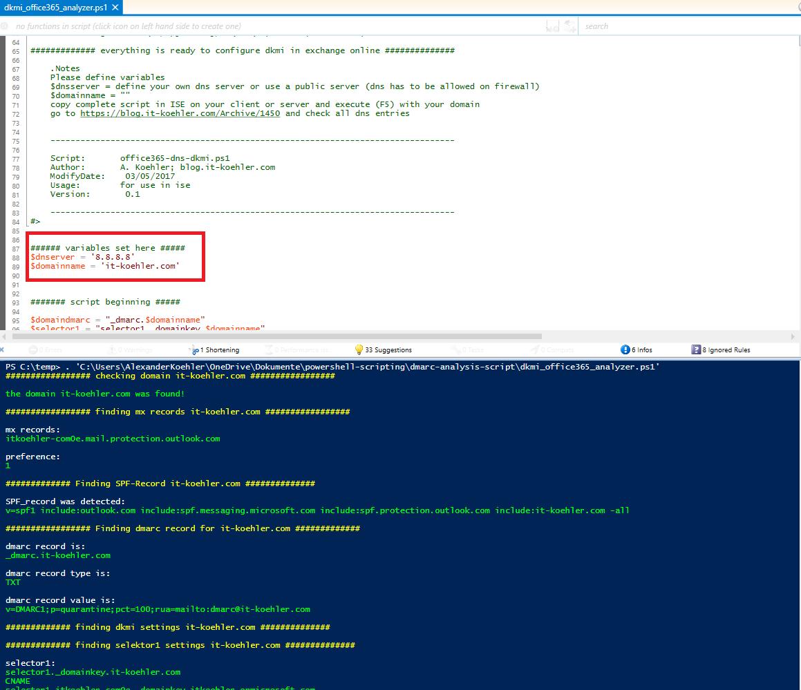 dkmi DomainKeys Identified Mail in Office 365 Exchange Online How to