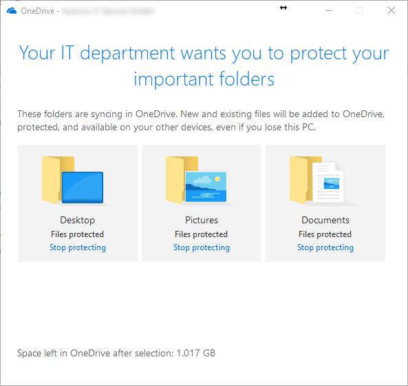 OneDrive Business KFM Known Folder Move without GPOs via