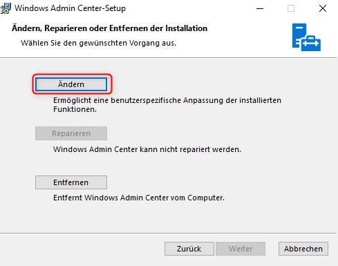 Windows Admin Center 1809 selfsigned Zertifikat installieren und ...