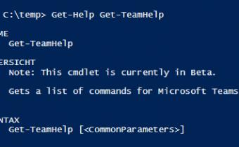 Neues Powershell Modul Microsoft Teams 0.9.6 tutorial