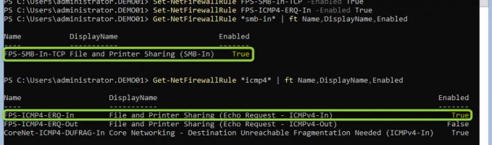 WIN2019 Core eingehende SMB Verbindung aktivieren